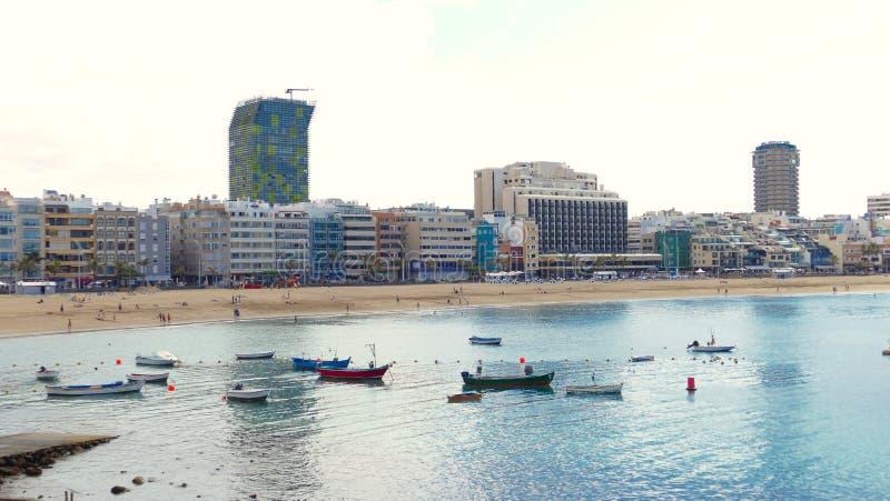 La Cantera - tiri in Las Palmas - Gran Canaria - la Spagna, vista della città nei precedenti immagine stock