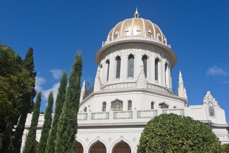 La capilla de Bahai del Bab fotografía de archivo