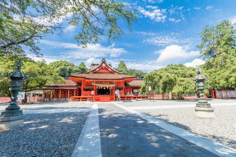 La capilla de Fujisan Sengen era una de la capilla más grande y más magnífica imagen de archivo libre de regalías