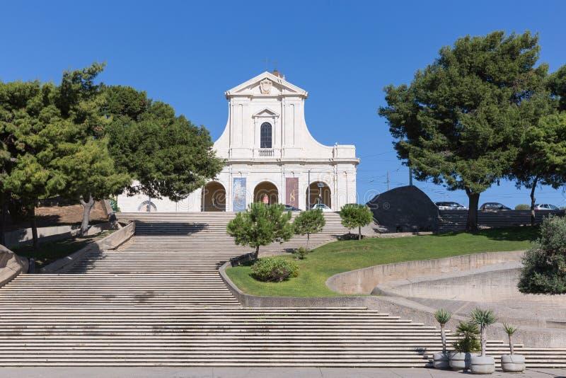 La capilla de nuestra señora de Bonaria Cagliari fotografía de archivo libre de regalías