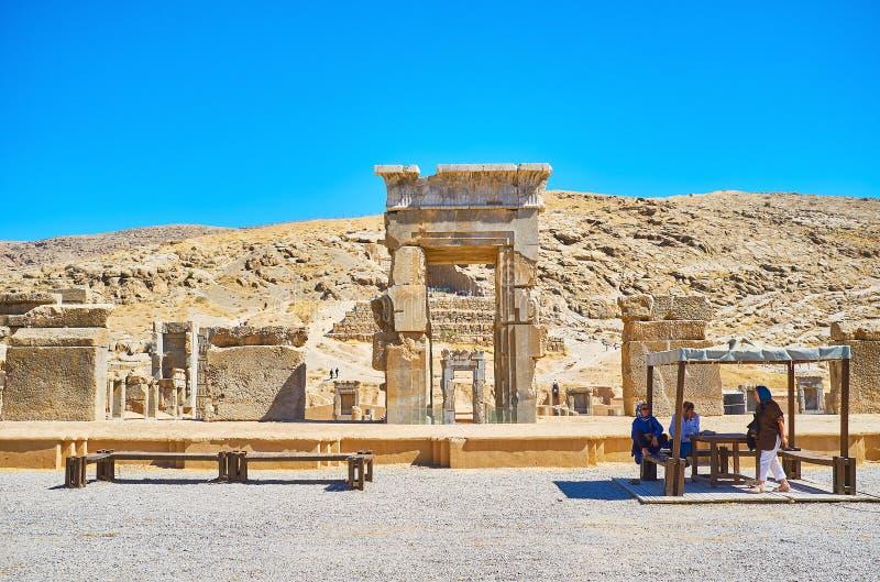 La capital ceremonial del imperio persa, Irán imágenes de archivo libres de regalías