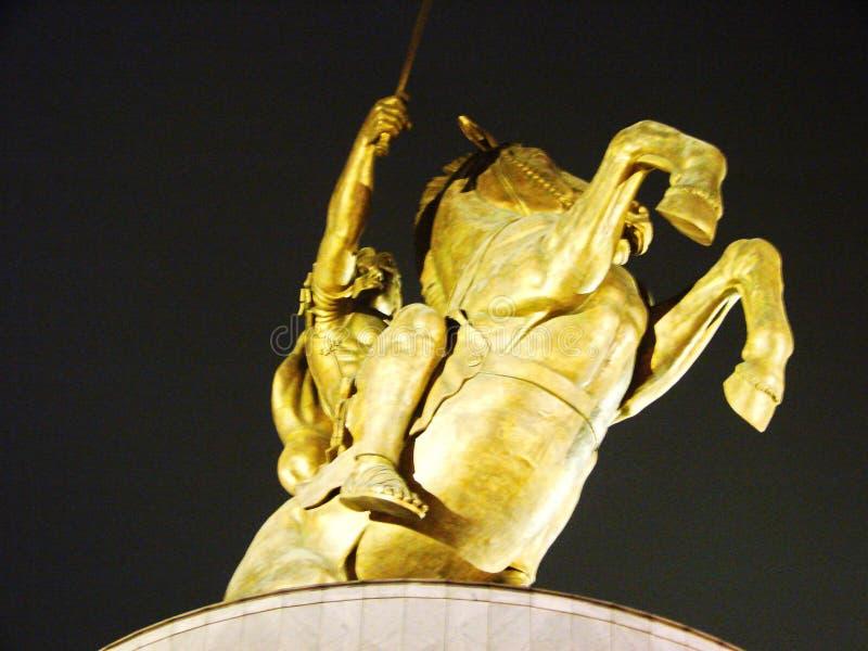 La capitale della Macedonia Skopje immagine stock libera da diritti