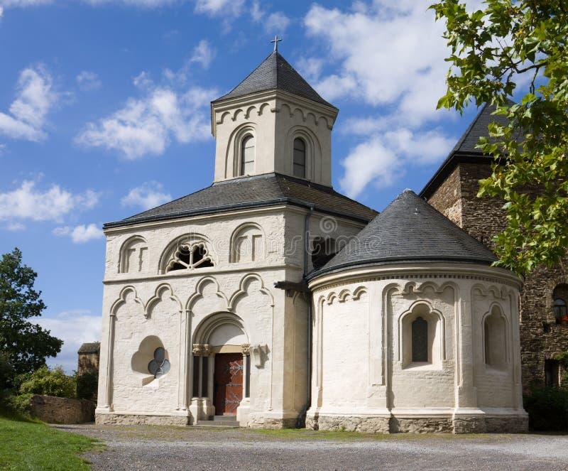 La cappella della st Matthias in Kobern-Gondorf, Germania fotografia stock libera da diritti