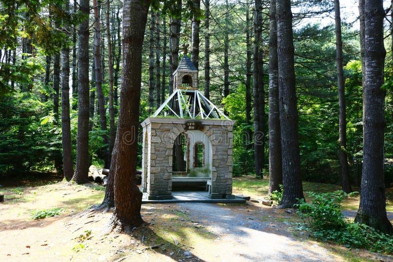 La cappella dello scoiattolo nel giardino di Manabe fotografia stock libera da diritti
