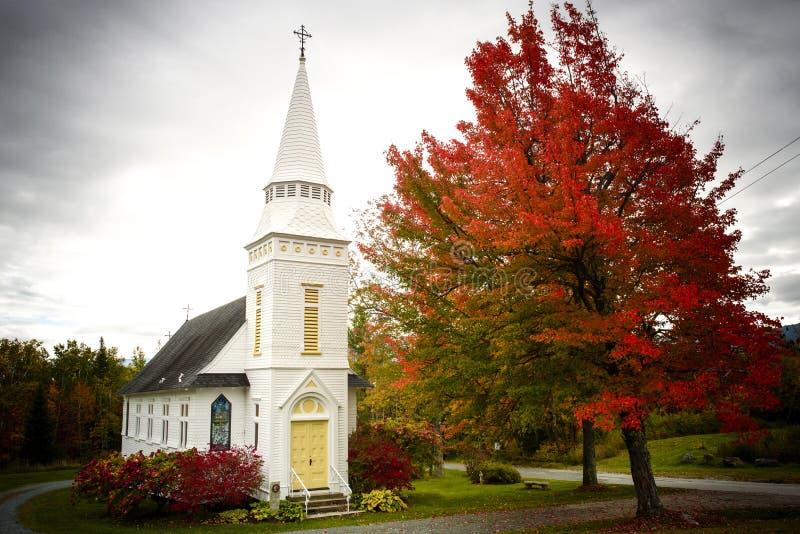 La cappella di St Matthew in collina suggar New Hampshire fotografia stock