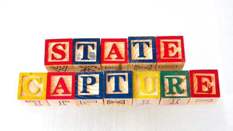 La captura del estado del término exhibida visualmente fotografía de archivo