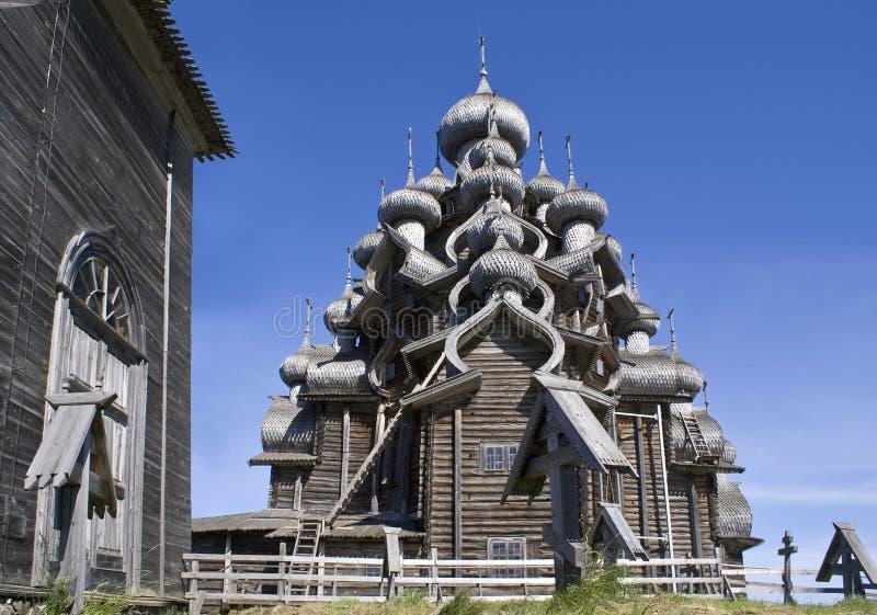 La Carélie. Kizhi. Église de Preobrazhenskiy photo libre de droits