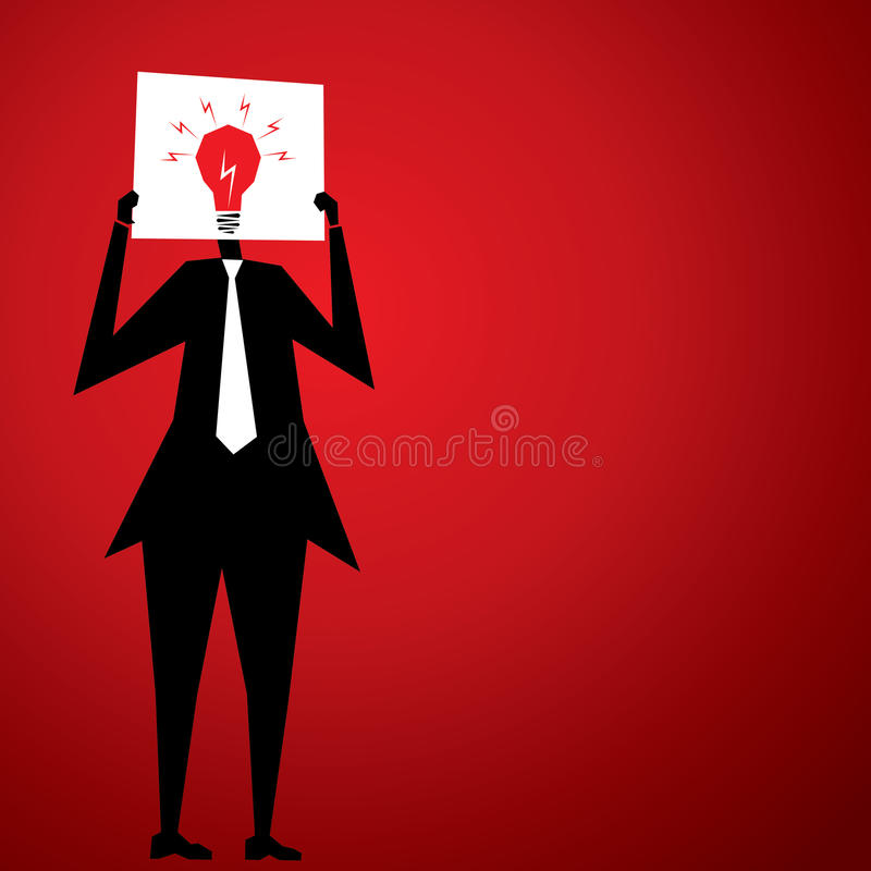 Hombres con nueva idea ilustración del vector