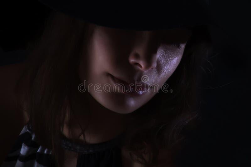 La cara de la mujer foto de archivo