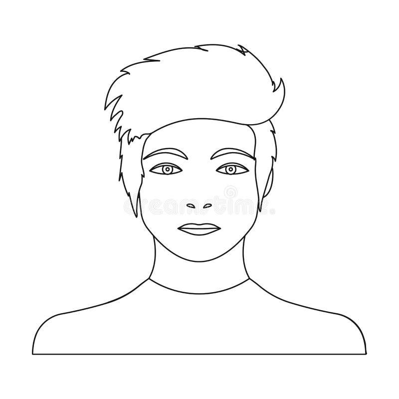 La cara de un individuo joven stock de ilustración