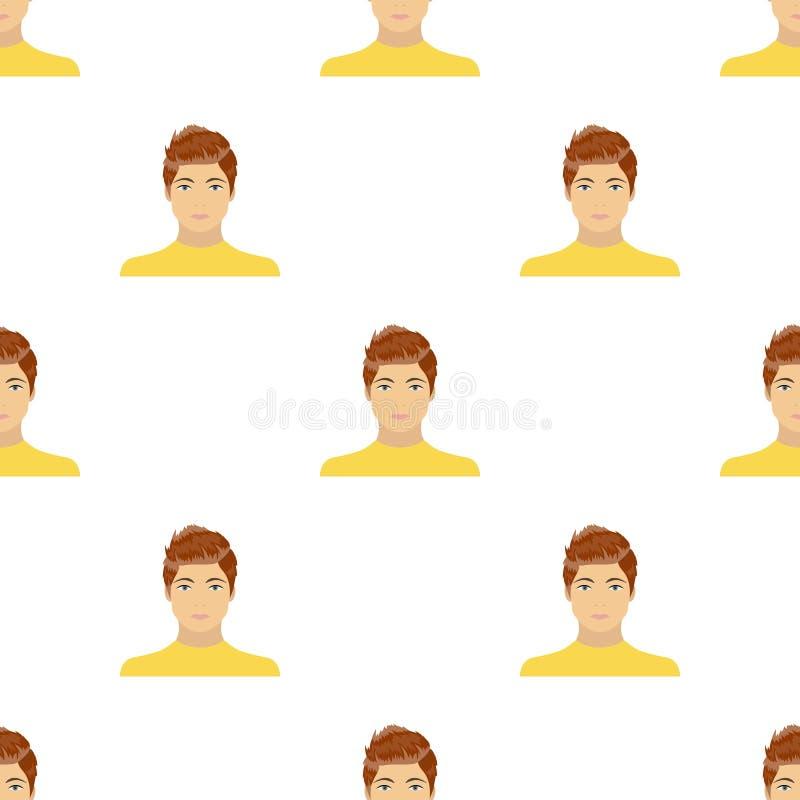 La cara de un individuo joven La cara e icono del aspecto el solo en historieta diseñan el web del ejemplo de la acción del símbo ilustración del vector