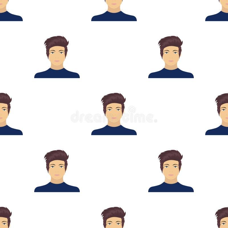 La cara de un individuo joven La cara e icono del aspecto el solo en historieta diseñan el web del ejemplo de la acción del símbo libre illustration
