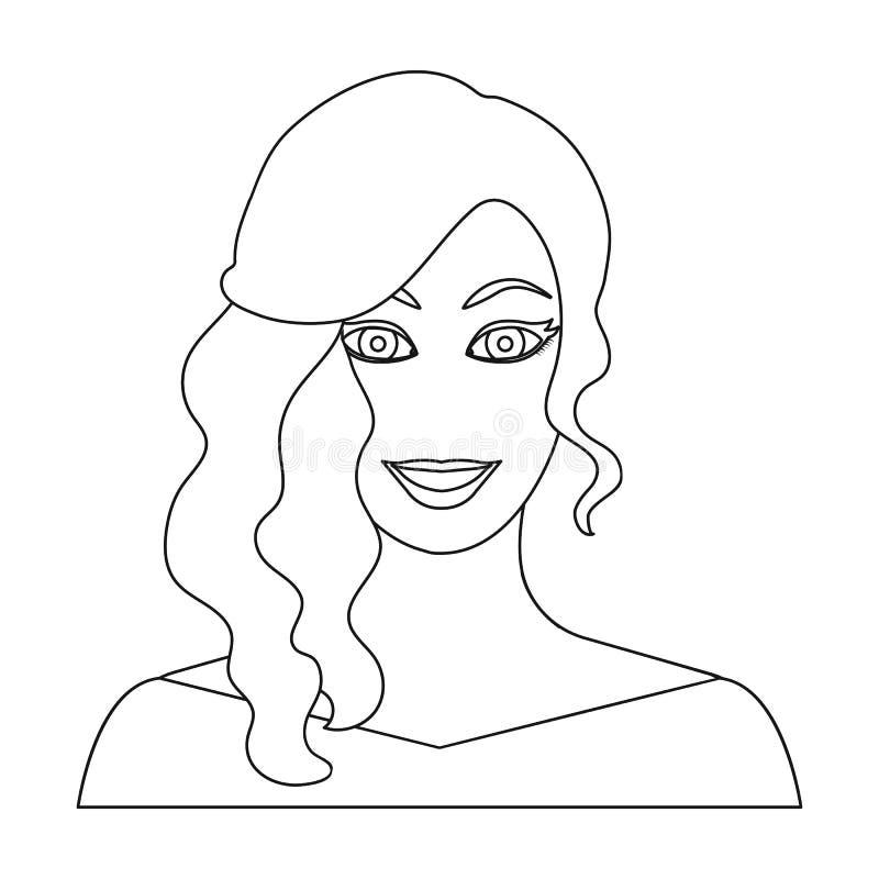 La cara de una mujer con un peinado ilustración del vector