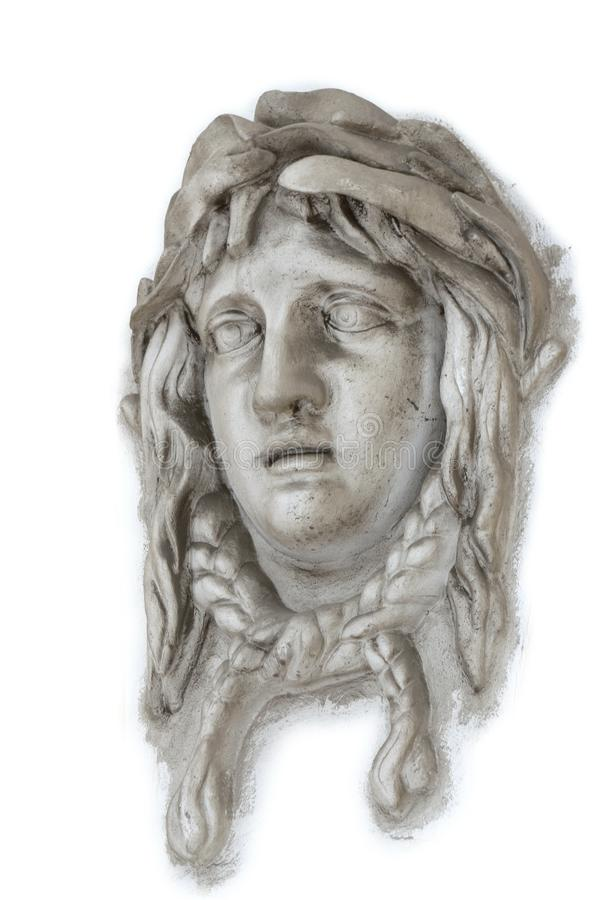 La cara de una mujer a partir de la era antigua de Grecia foto de archivo libre de regalías