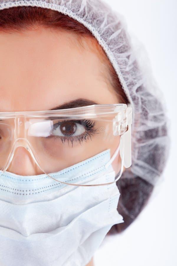 La cara del cirujano de sexo femenino fotografía de archivo