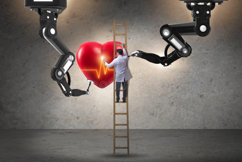 La cardiochirurgia fatta dal braccio robot fotografia stock libera da diritti