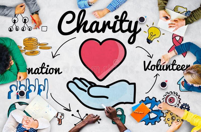 La caridad dona concepto de donante caritativo de la generosidad del bienestar stock de ilustración