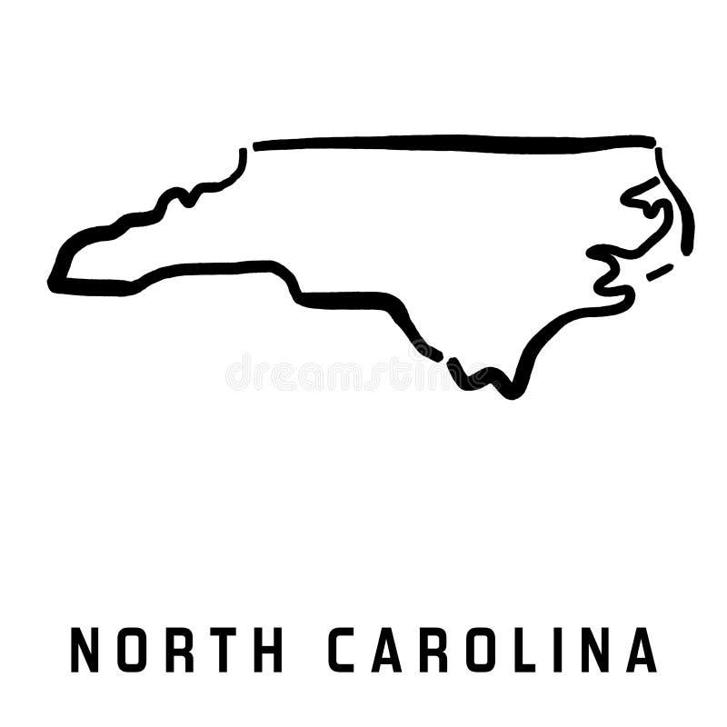 La Caroline du Nord illustration de vecteur
