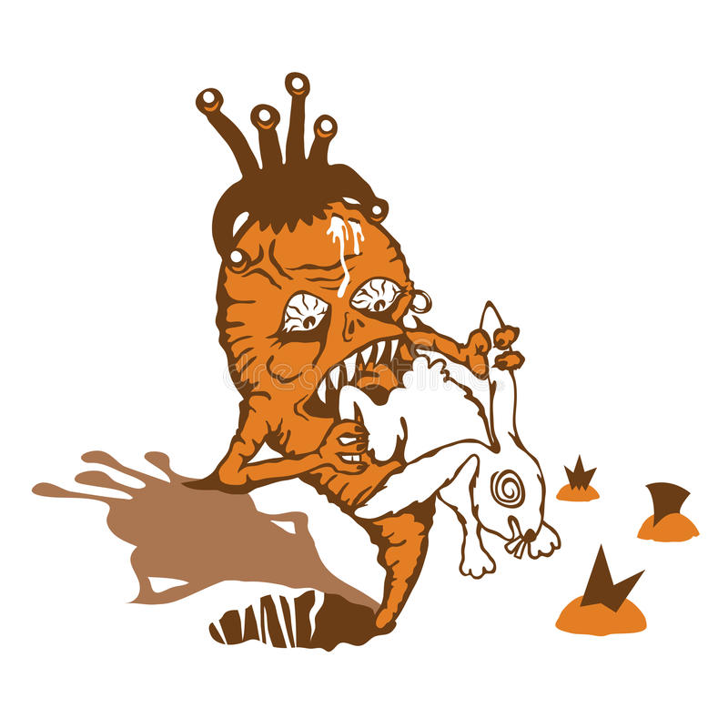 La carota cattura la vendetta su coniglio immagini stock libere da diritti