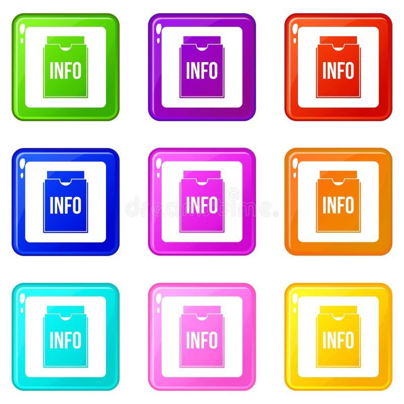 La carpeta de la información fijó 9 ilustración del vector