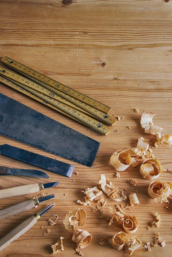 La carpintería equipa concepto imágenes de archivo libres de regalías