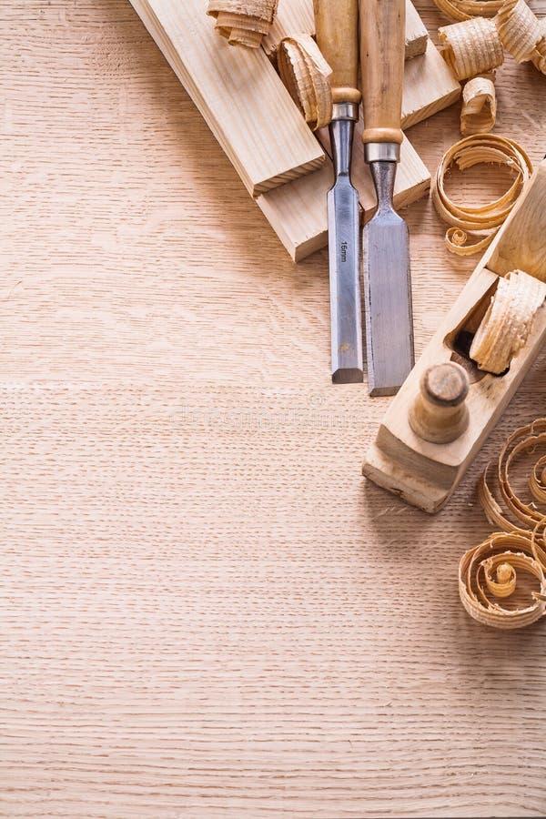 La carpintería organizada del copyspace equipa pasado de moda fotografía de archivo
