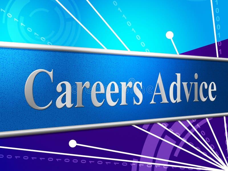 La carrière de conseil indique la ligne de travail et le bulletin de renseignements illustration libre de droits