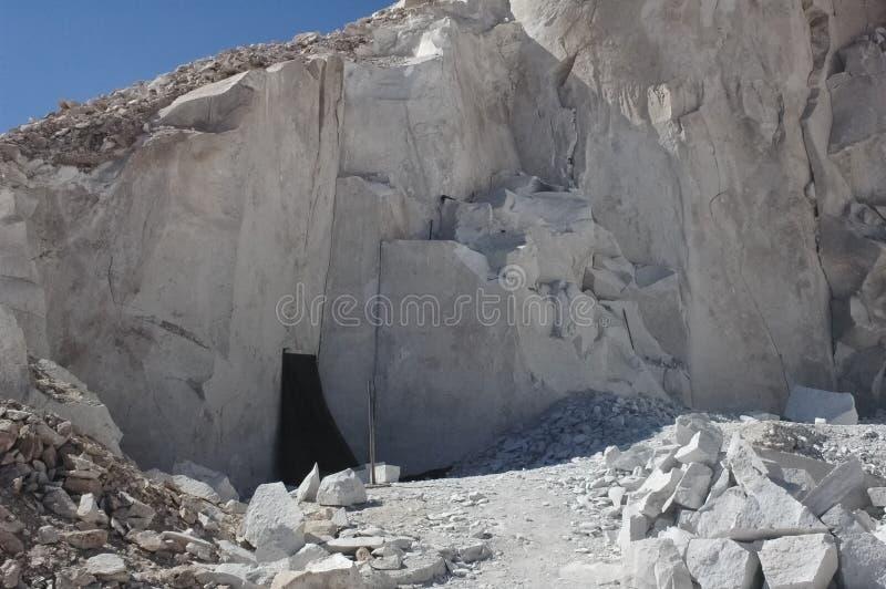 La carrière de gypse de Valle del Jere photo stock