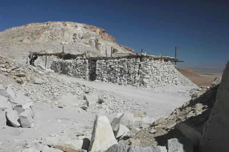 La carrière de Valle del Jere photo stock