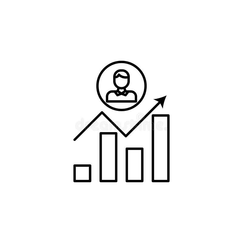 la carriera coltiva la linea icona Elemento dell'icona di cacciatore di teste per i apps mobili di web e di concetto La linea sot illustrazione di stock