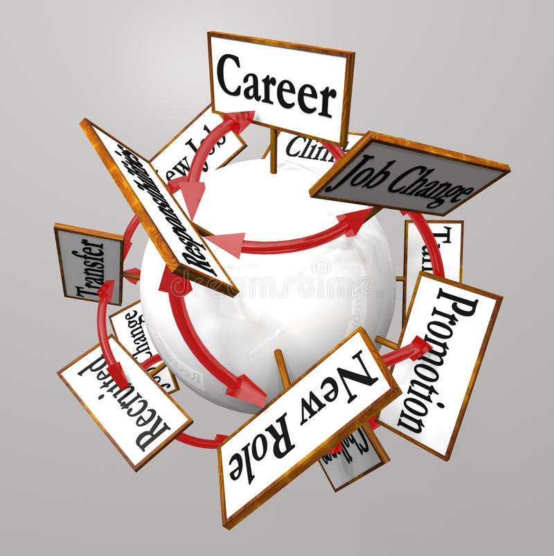 La carriera firma Job Path Promotion Change professionale illustrazione vettoriale
