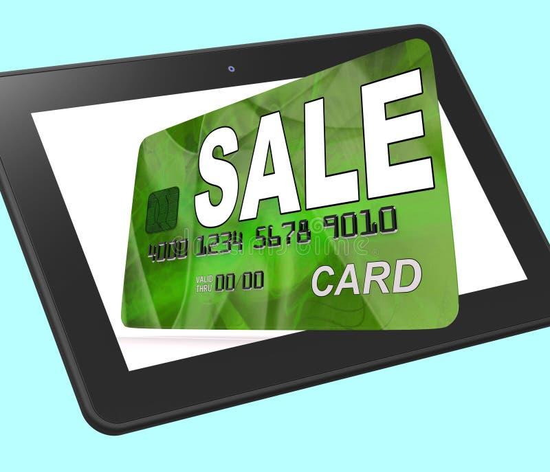 La carta assegni di vendita calcolata mostra gli affari e gli sconti al minuto illustrazione di stock