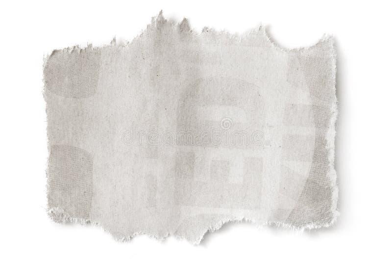 La carta in bianco lacerata con CopySpace ha isolato fotografie stock