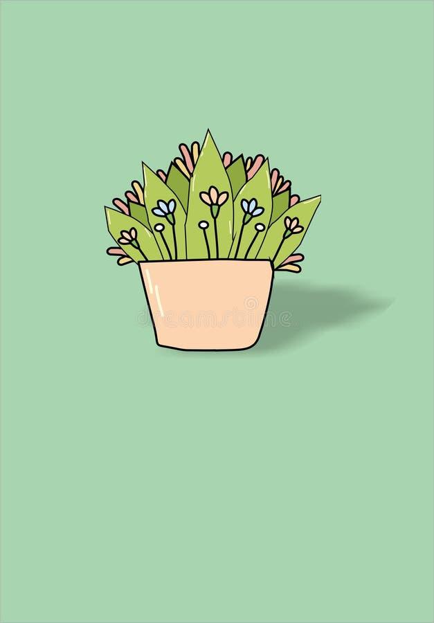 la carta con i fiori della molla immagine stock libera da diritti