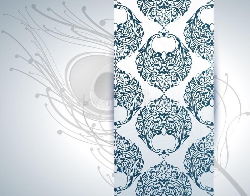 Piuma del pavone e della carta da parati sui precedenti royalty illustrazione gratis