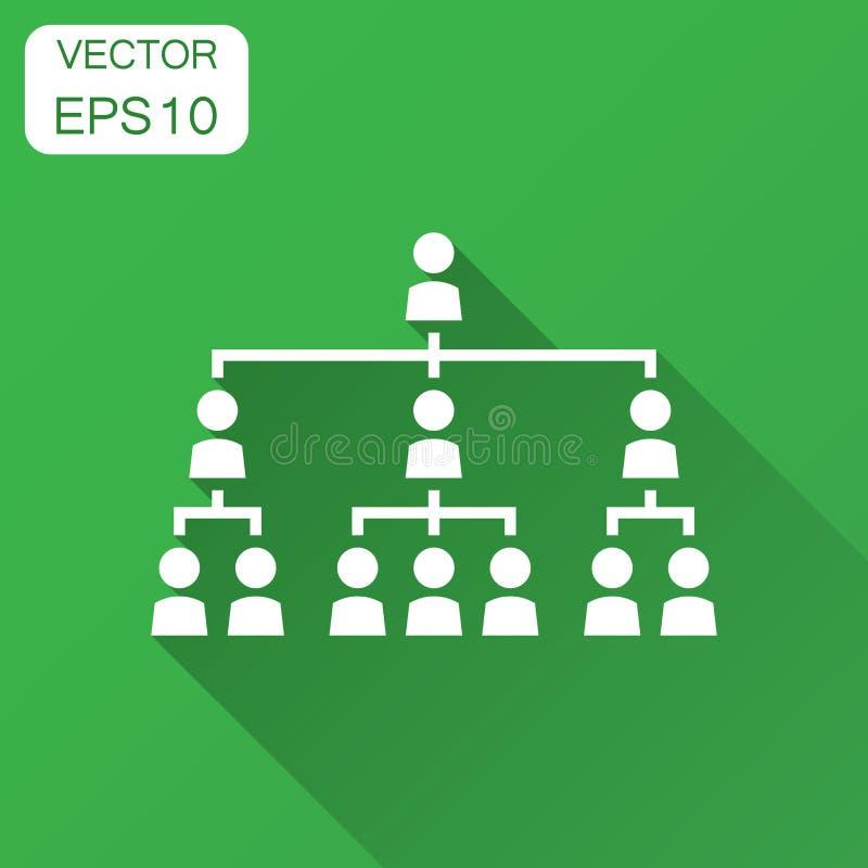 La carta de organización corporativa con los hombres de negocios vector el icono adentro ilustración del vector