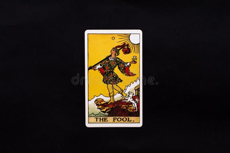 La carta de tarot de los arcana del comandante del tonto imagen de archivo libre de regalías