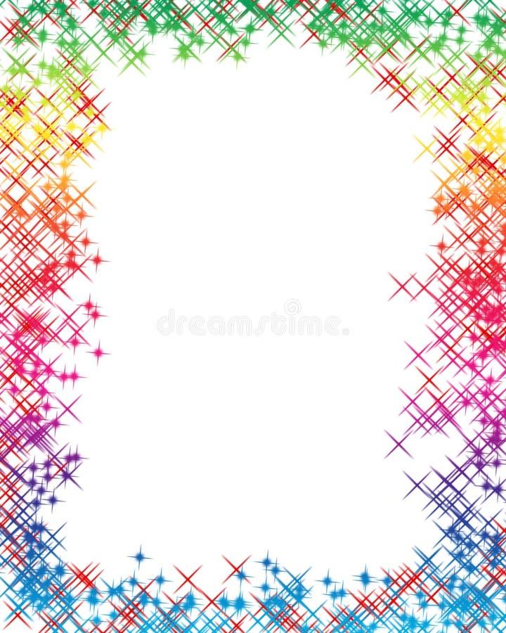 La carta del arco iris stock de ilustración