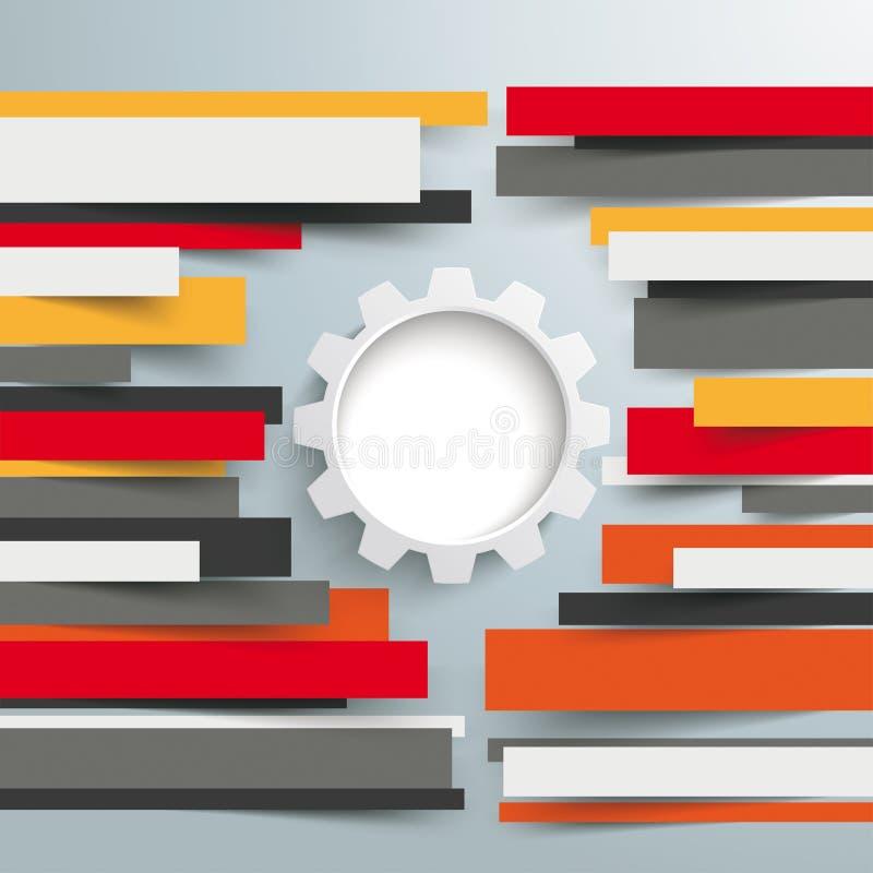 La carta dell'opuscolo di Infographic allinea l'ingranaggio illustrazione vettoriale