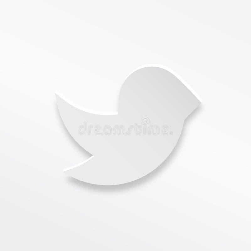 La carta dell'uccello di volo ha disegnato l'icona di vettore illustrazione vettoriale