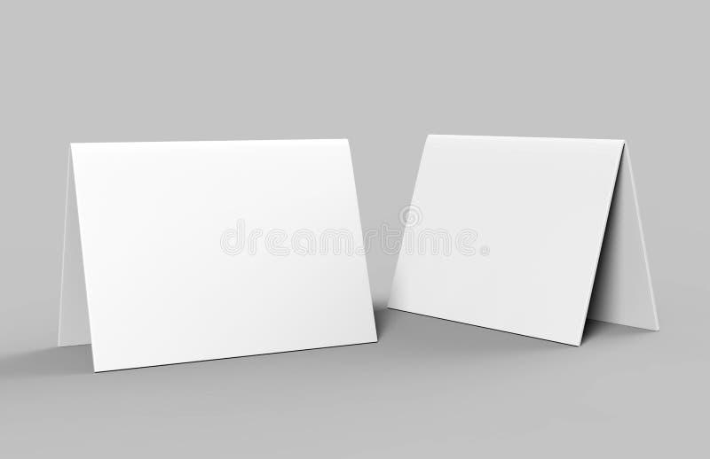 La carta della tenda della tabella in bianco per la presentazione di progettazione o la derisione su progetta il bianco in bianco illustrazione vettoriale