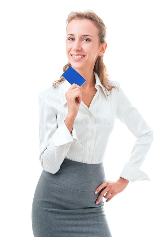 La carta di credito è la soluzione perfetta fotografie stock