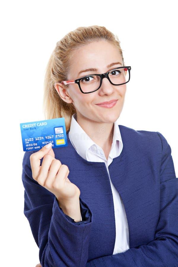 La carta di credito è la soluzione perfetta fotografia stock