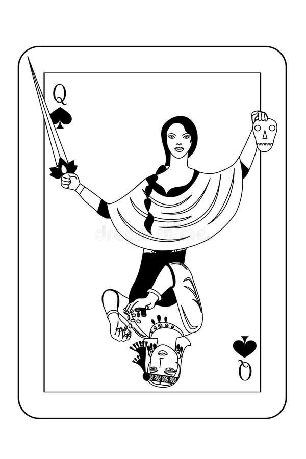 La carta di crimine illustrazione di stock