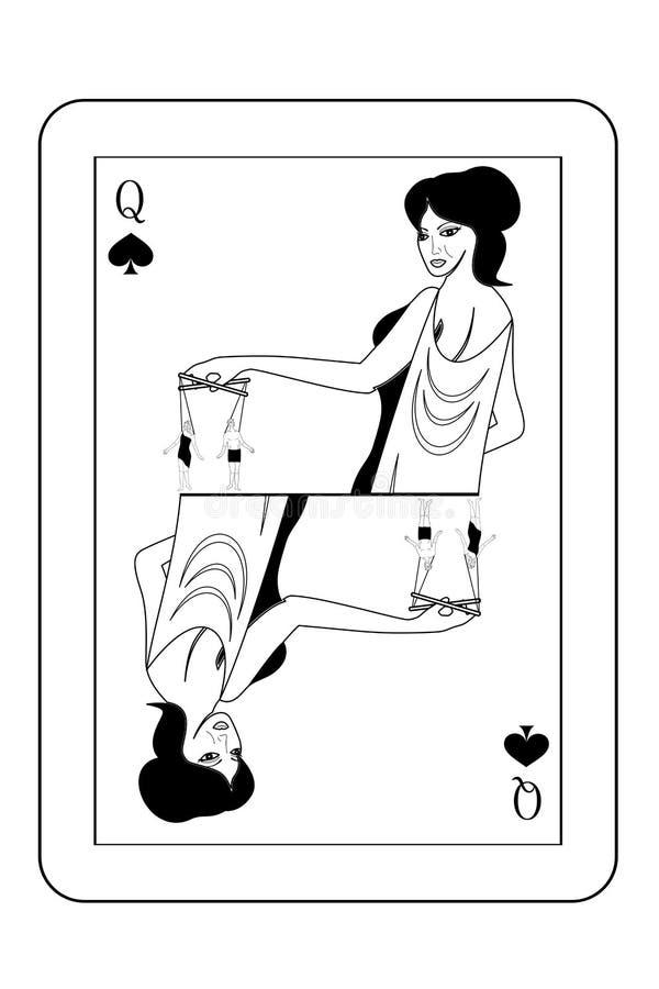 La carta di manipolazione illustrazione vettoriale