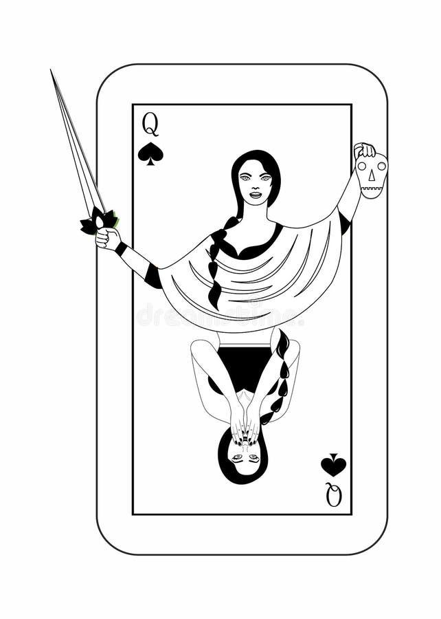 La carta di orrore royalty illustrazione gratis