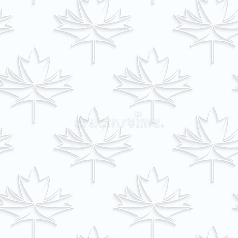La carta di Quilling ha ricambiato le foglie di acero con le vene illustrazione vettoriale