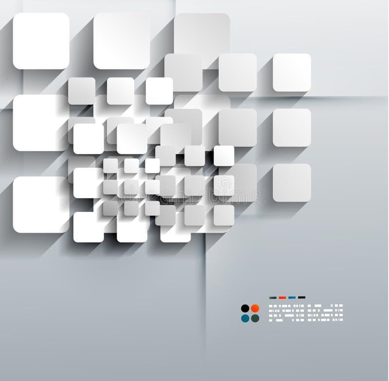 La carta di vettore 3d quadra la progettazione moderna illustrazione di stock