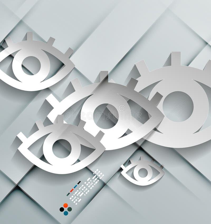 La carta di vettore osserva la progettazione moderna illustrazione di stock