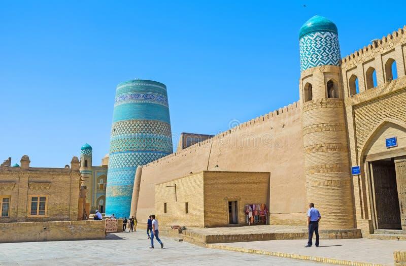 La carta di visita di Khiva fotografie stock